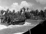 An US Navy LCM delivered men to the Leyte beachhead, Philippine Islands, 20 Oct 1944
