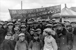 Residents of West Byelorussia, Poland welcoming Soviet invaders, Sep 1939