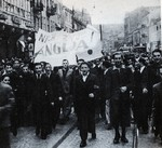 Demonstration in Warsaw, Poland in support of the British declaration of war on Germany, 3 Sep 1939
