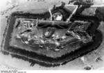 Aerial view of Fort II of the Warsaw Fortress (Wawrzyszew), Poland, Sep 1939