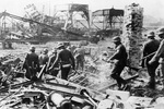 German soldiers at the Westerplatte, Danzig, 7 Sep 1939