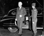 US Assistant Secretary of State William Clayton arriving for the Potsdam Conference, Germany, 24 Jul 1945