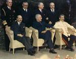 Attlee, Truman, and Stalin at Potsdam Conference, circa 28 Jul to 1 Aug 1945, photo 2 of 5
