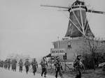 Canadian Infantry of the Regiment de Maisonneuve, moving through Holten to Rijssen, Netherlands, 9 Apr 1945