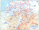 Map depicting Allied campaign in the Ruhr, Elbe, and Mulde regions, 5-18 Apr 1945