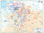 Map depicting the Allied encirclement of the Ruhr region, 29 Mar-4 Apr 1945