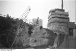 HMS Cambeltown wedged in the dock gates of Saint-Nazaire, France, 28 Mar 1942, photo 07 of 10