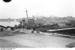 HMS Cambeltown wedged in the dock gates of Saint-Nazaire, France, 28 Mar 1942, photo 10 of 10