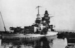 Scuttled French battleship Strasbourg, Toulon, France, date unknown