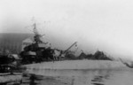 French destroyer Mameluk scuttled at Toulon, France, circa 27 Nov 1942
