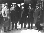 US delegates en reoute to Second London Naval Conference aboard passenger liner George Washington, Jan 1930