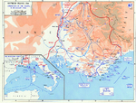 Map of Southern France during Operation Dragoon, 15-28 Aug 1944