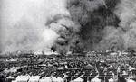 Smoke above Zhabei district of Shanghai during battle, Aug-Sep 1937