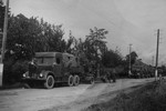 A conovoy of Slovakian resistance fighter vehicles near Kelemes, Czechoslovakia (today part of Presov, Slovakia), summer 1944, photo 1 of 2