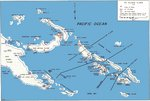 Map noting the Solomon Islands situation in 1943