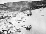Parafrag bombs falling in Simpson Harbor, Rabaul, New Britain, 1940s
