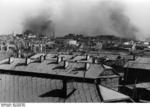 Smoke rising from various districts of Stalingrad, Russia, 30 Sep 1942