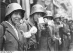 Men of Sudeten German Freikorps in the city of Cheb, Czechoslovakia, 3 Oct 1938