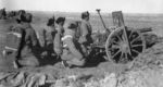 Field gun crew of Shanxi-Suiyuan Army loyal to the Nationalist Chinese, Bailingmiao, Suiyuan Province, China, late Nov 1936