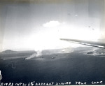 Japanese ammunition ships in Truk Harbor being attacked by dive bombers of USS Intrepid, Caroline Islands, 17 Feb 1944