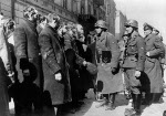 German troops questioning Rabbi Heschel Rappaport and other rabbis in Warsaw, Poland, 19 Apr-16 May 1943