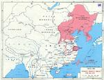 Map marking major Japanese campaigns in China in 1938 and 1939