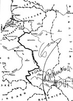 Map attached to the German-Soviet Treaty of Friendship, Cooperation and Demarcation of 28 Sep 1939; note signatures of Joseph Stalin and Joachim von Ribbentro