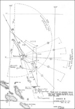 Japanese track chart during Battle of Eastern Solomons, 23-25 Aug 1942; Annex B of Toyama