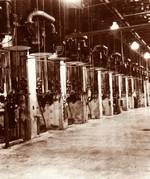 Alpha Track Calutron diffusion vacuum pumps at the Y-12 Plant at Oak Ridge, Tennessee, United States, 1944-1945