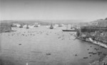 HMS Ramillies, HMS Barfleur, and HMS Nile in Grand Harbour, Malta, 24 May 1896; the ships were firing salutes in honor of Queen Victoria