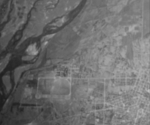Reconnaissance photograph of the southern area of Heito Airfield, Heito (now Pingdong), Taiwan, 20 Dec 1943