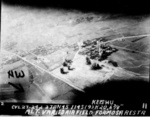 Hokuto Airfield under USS Langley carrier aircraft attack, Taiwan, 3 Jan 1945, photo 2 of 6