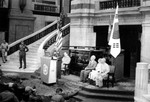 Ceremony marking the return of Seoul to Republic of Korea control, General Government Building, Seoul, Korea, 29 Sep 1950, photo 1 of 3