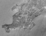USAAF reconnaissance photograph of Mako harbor, Pescadores Islands, Dec 1943