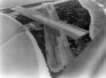 Aerial view of the under-construction Naval Air Station Midway, Eastern Island, Midway Atoll, 1941