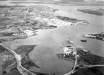 Pearl Harbor Naval Station, looking west, US Territory of Hawaii, circa 1918