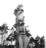 Rail-mounted V-2 rocket, Peenemünde, Germany, 1940s, photo 1 of 4