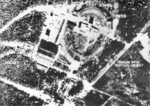 British aerial reconnaissance photograph of V-2 rockets at Peenemünde Test Stands I and VII, Germany, 12 Jun 1943