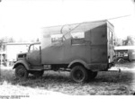 Modified army truck at Peenemünde Army Research Center, Germany, date unknown
