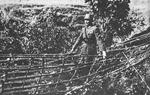 He Yingqin inspecting a suspension bridge built by trainees at Ramgarh Training Center, India, Feb 1943