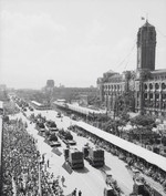 National Day parade before Presidential Office Building, Taipei, Taiwan, Republic of China, 10 Oct 1961, photo 1 of 4