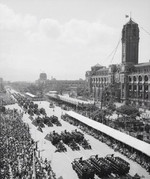National Day parade before Presidential Office Building, Taipei, Taiwan, Republic of China, 10 Oct 1961, photo 2 of 4