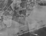 Aerial view of Takao Seaplane Base, Takao (now Kaohsiung), Taiwan, early 1944