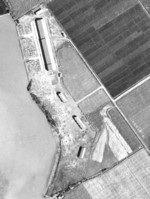 Aerial photo of Takao Seaplane Base, Takao (now Kaohsiung), Taiwan, 12 Oct 1944; photo taken by an aircraft from USS Wasp
