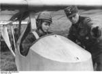 Hitler Youth member being instructed on a glider, date unknown