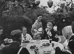 Hitler Youth members dining at the German embassy in Japan, 16 Aug 1938