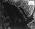 Takao (now Kaohsiung) harbor under US aerial attack, Taiwan, 17 Nov 1944, photo 4 of 5
