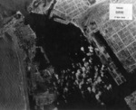 Takao (now Kaohsiung) harbor under US aerial attack, Taiwan, 17 Nov 1944, photo 5 of 5