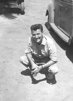 Lieutenant Charles Nolan of USAAF 3rd Bomb Group at Charters Towers, Australia, early 1942; Nolan was lost aboard B-24 bomber