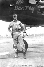 Bombardier Sergeant Joe Haley of 13th Bomb Squadron of USAAF 3rd Bomb Group, Charters Towers, Australia, early 1942